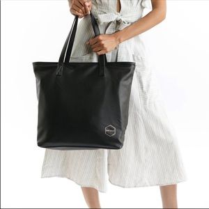 NWT Fawn Design Original Tote Black Faux Leather